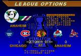 NHL 98 Genesis League options