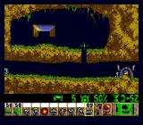 Lemmings Genesis Digger: can dig holes in the ground and fall through them