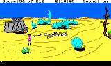 King's Quest III: To Heir is Human TRS-80 CoCo Wandering the desert; should I really be here?