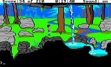 King's Quest III: To Heir is Human TRS-80 CoCo A scenic waterfall