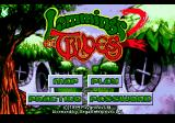 Lemmings 2: The Tribes Genesis Title screen and main menu