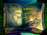Casper: Friends Around the World PlayStation Main menu