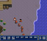 First Queen: Ornic Senki SNES Fighting some lonely crazy fish on a beach