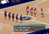 NBA Live 96 Genesis Introducing the players. No close-up! Booooooo....