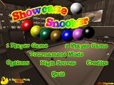 Showcase Snooker Windows Main menu