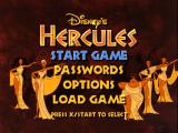 Disney's Hercules  PlayStation Main menu