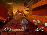 Disney's Hercules  PlayStation Citizens fleeing from the Cyclops.