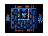 Dung Beetles TRS-80 CoCo The gameplay screen