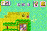 Turbo Turtle Adventure Game Boy Advance A brick item can be used to build bast gaps.