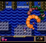 Fray in Magical Adventure CD: Xak Gaiden TurboGrafx CD Boss battle: water dragon