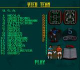 Elite Soccer SNES Viewing a team's roster
