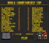 Elite Soccer SNES Teams competing for the World Championship Cup