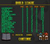 Elite Soccer SNES World League standings