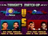 NBA Jam Tournament Edition SEGA Saturn The match up with the computer selecting the Mavericks