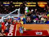 NBA Jam Tournament Edition SEGA Saturn Getting some air for the slam!