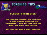 NBA Jam Tournament Edition SEGA Saturn Coaching tips after at the quarters