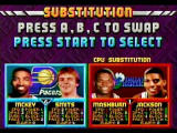NBA Jam Tournament Edition SEGA Saturn Sub other players from the team roster during quarters replacing injured players
