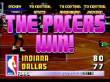 NBA Jam Tournament Edition SEGA Saturn Pacers over Mavericks