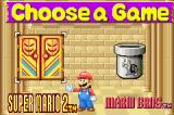 Super Mario Advance Game Boy Advance Game choose menu