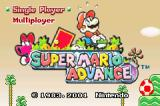 Super Mario Advance Game Boy Advance Alternate title screen