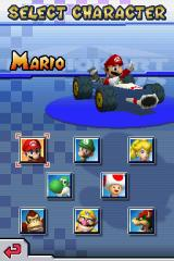 Mario Kart DS Nintendo DS Driver selection