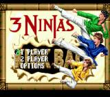 3 Ninjas Kick Back Genesis Title screen