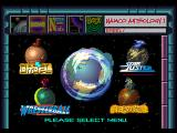 Namco Anthology 1 PlayStation A browser-style interface for the main menu