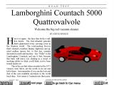 Car and Driver DOS Reading the article about the Lamborghini Countach 5000 Quattrovalvole.
