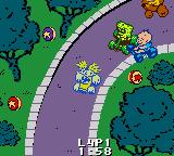 Nicktoons Racing Game Boy Color Rugrats environment