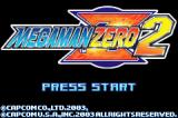 Mega Man Zero 2 Game Boy Advance Title Screen