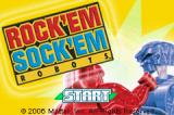 Rock 'Em Sock 'Em Robots Game Boy Advance Title screen