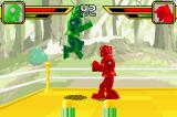 Rock 'Em Sock 'Em Robots Game Boy Advance Green tries to jump and attack