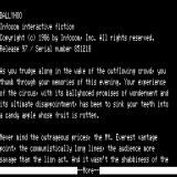 Ballyhoo TRS-80 Title and introduction