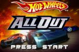 Hot Wheels: All Out Game Boy Advance Title screen