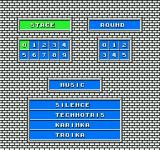 Tetris NES Select stage, round, and music