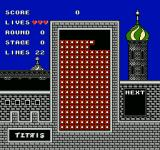 Tetris NES If the blocks get to the top, the player loses a life