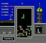 Tetris NES Later stages start with blocks already there