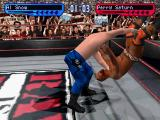 WWF Smackdown! 2: Know Your Role PlayStation Al Snow throwing Perry Saturn down.