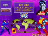 X-Men: Children of the Atom DOS After selecting a character, you can choose between manual guard or automatic guard. The latter automatically guards against any enemy attack, but in exchange prevents from doing some advanced moves.