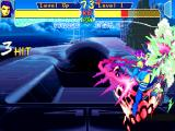 "X-Men: Children of the Atom DOS Psylocke's Psi-Blade is her ""dragon punch"" move, especially good to intercept air attacks. If timed correctly you can chain another Psi-Balde just after."