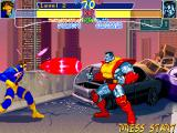 "X-Men: Children of the Atom DOS Cyclops can also fire an Optic Blast ""bullet"". This is done simply by pressing the strong punch button."