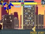 X-Men: Children of the Atom DOS By pressing down and up just after, you can do a super jump. If the enemy is no longer visible an arrow beacon allows you to track his/her position.