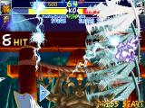X-Men: Children of the Atom DOS Storm's Hyper X move sends devastating lightnings in 8 directions. Hyper X moves are a character's most powerful moves and consume most of or all of the power bar.