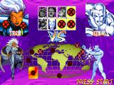 X-Men: Children of the Atom DOS After each victory, you go back to the game map which displays who your next opponent is and those you have already defeated. The last column is reserved for the two bosses.