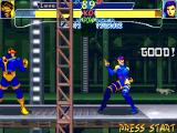X-Men: Children of the Atom DOS Levels scenery are made of multiple layers. Some levels will automatically scroll (through parallax scrolling), with sometimes objects in the front layer, like the girder here.