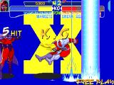 X-Men: Children of the Atom DOS Magneto's Hyper X move is Shock Wave. He will fire energy pillars as high as the screen, which will move to the other side of the screen and deal a massive amount of damage.