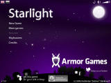 Starlight Browser Main menu