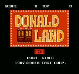 Donald Land NES Title screen
