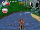 Hydro Thunder PlayStation Jumping from the waterfall.