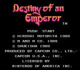Destiny of an Emperor NES Title Screen